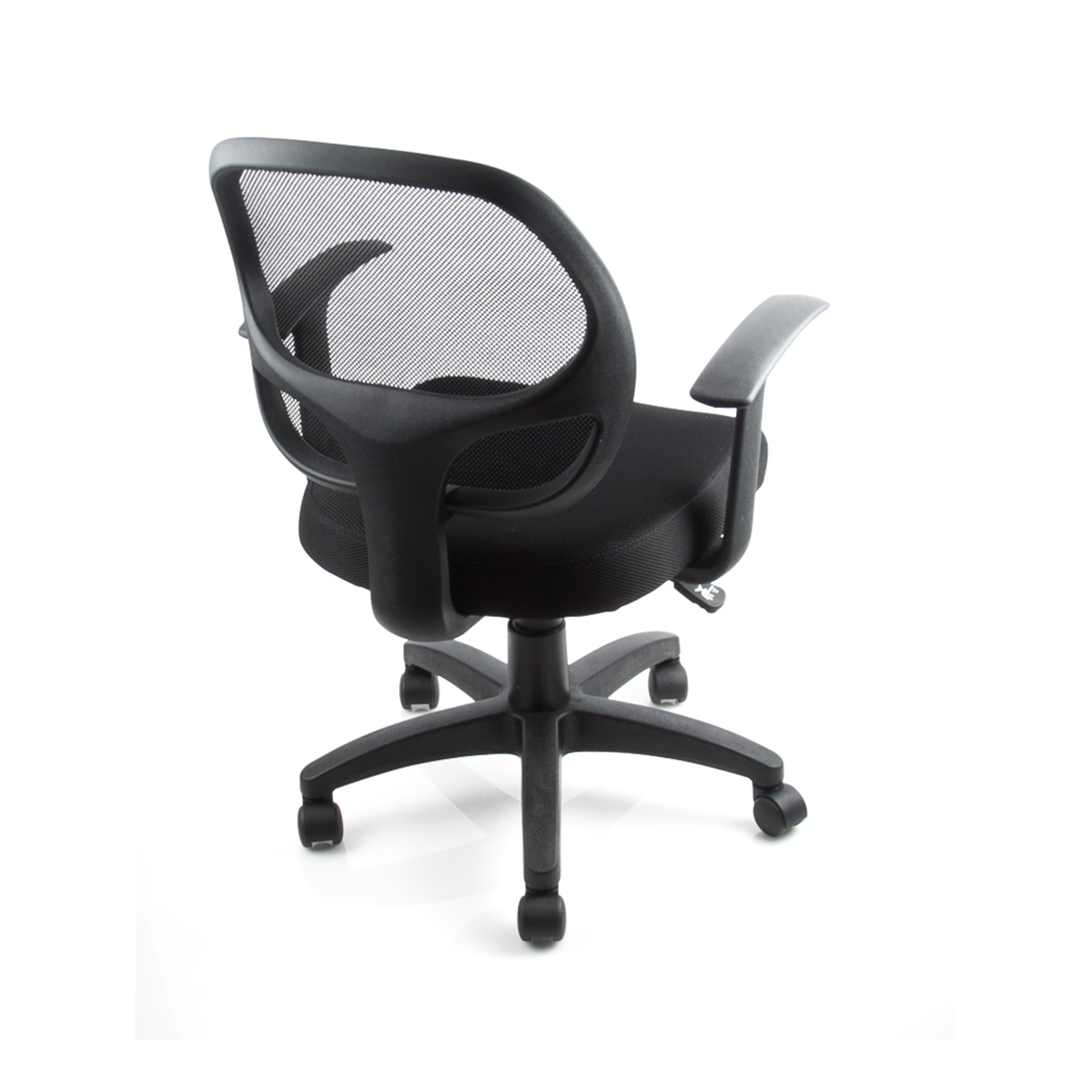 6 Mid Back Conference Task Office Chair Mid Back Mesh Padded Fabric Black New
