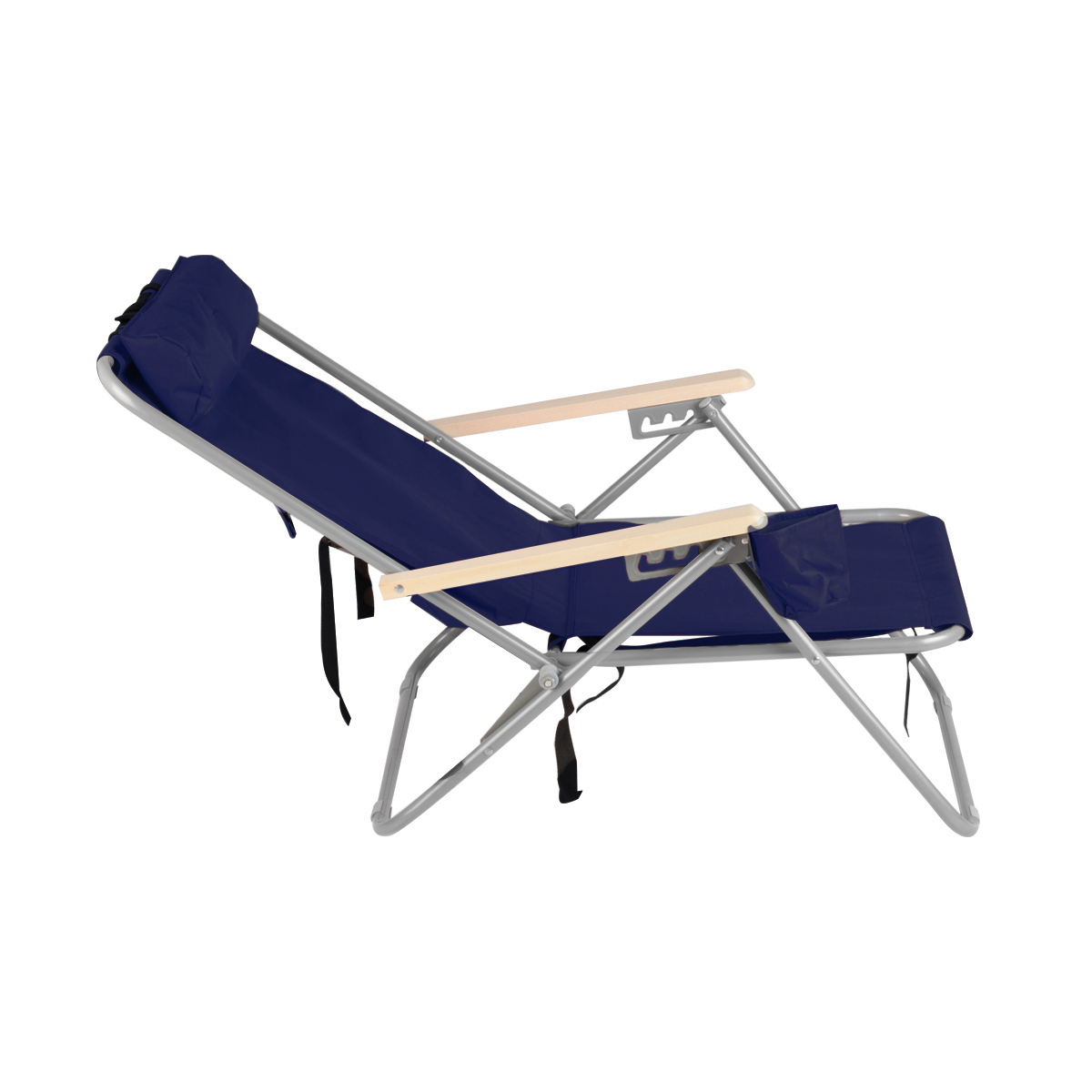 Blue Backpack Beach Chair Folding Portable Chair Solid Construction Camping New