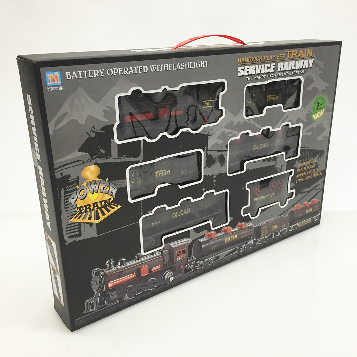 Battery Train Set : Deluxe kids train set toy with sounds lights classic
