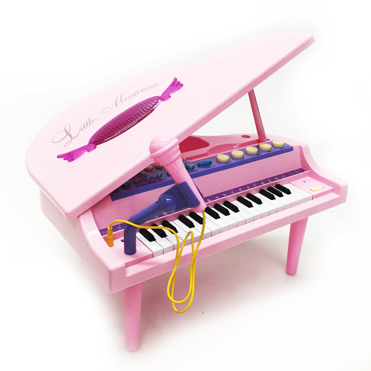 Toy Violins For 3 And Up : Pink mini piano learn play microphone toy keyboard
