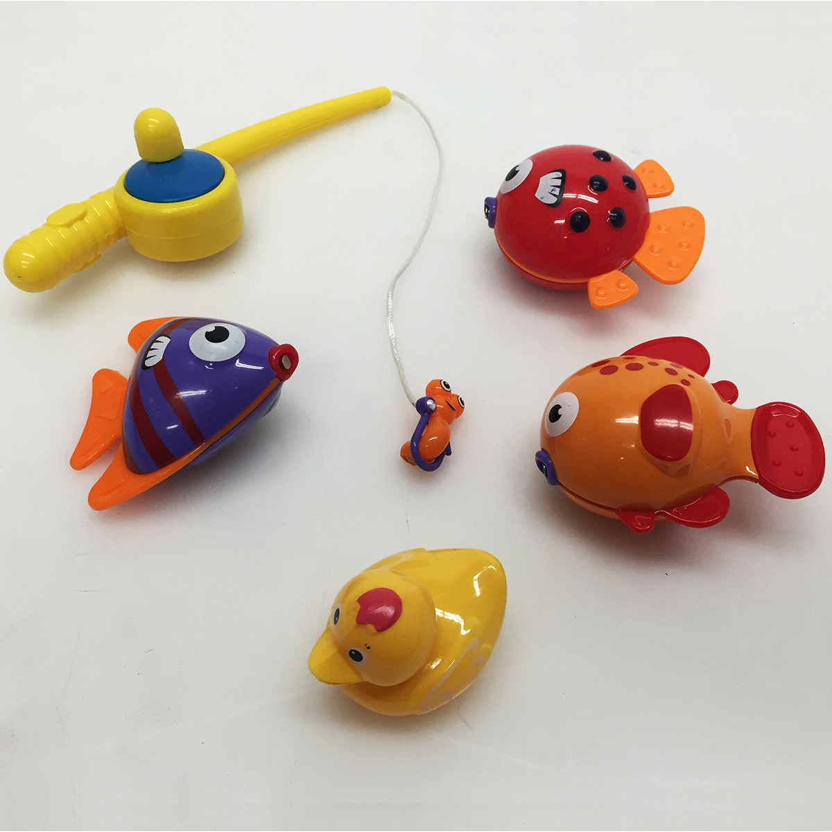 Baby fishing pole toy playset for kids bathtub bath fun for Baby fishing pole