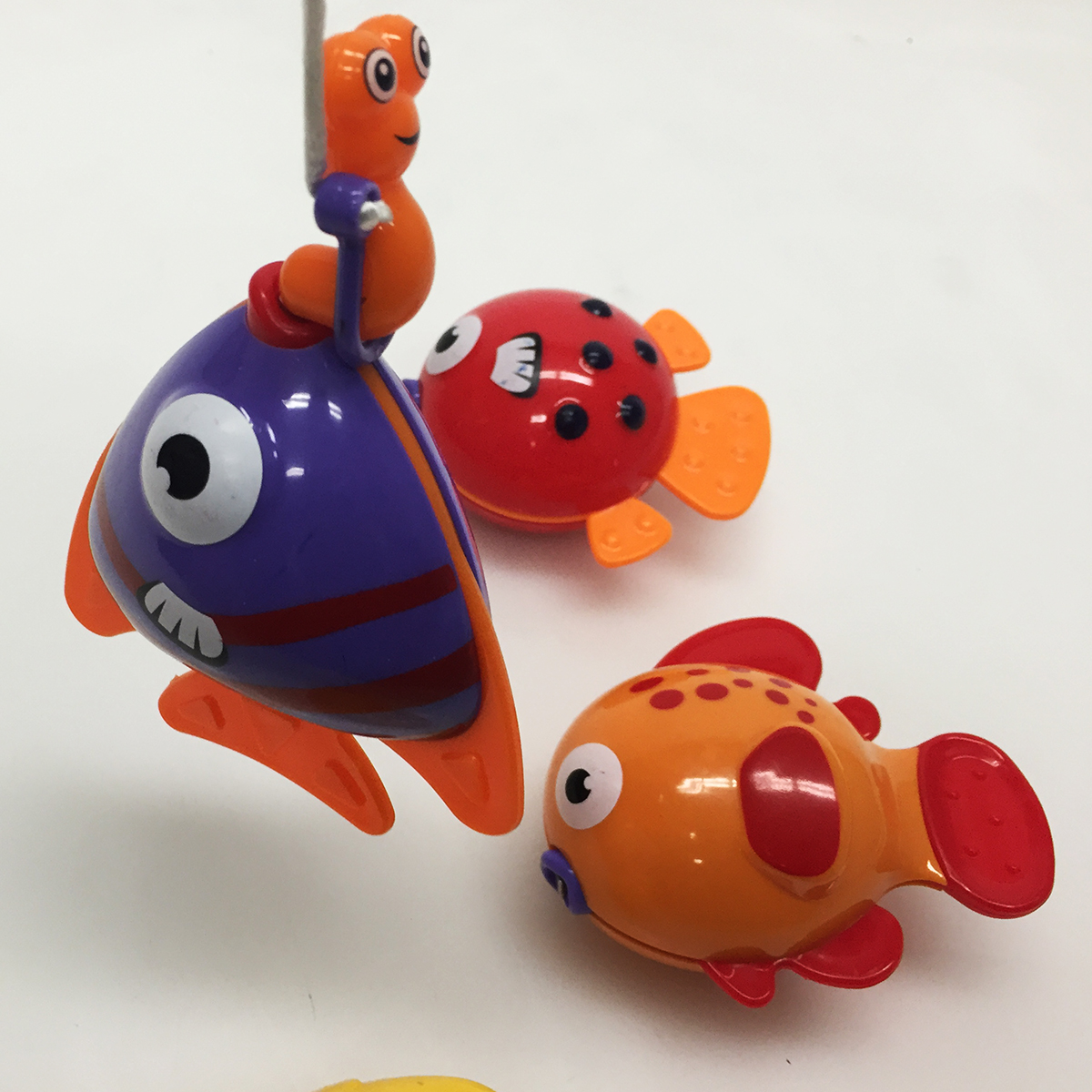 Toys For Fish : Fishing pole toy playset for kids bathtub hook and reel