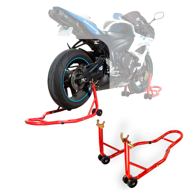 motorcycle sports stand bike red rear stand swingarm lift auto bike shop  ebay