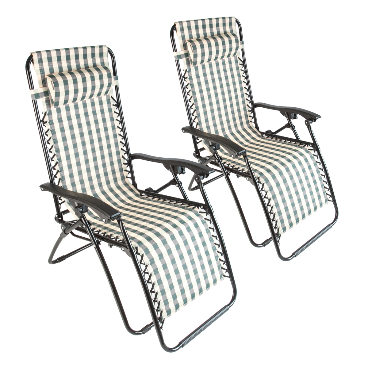 2 Beach Zero Gravity Folding Lounge Chair Recliner Patio