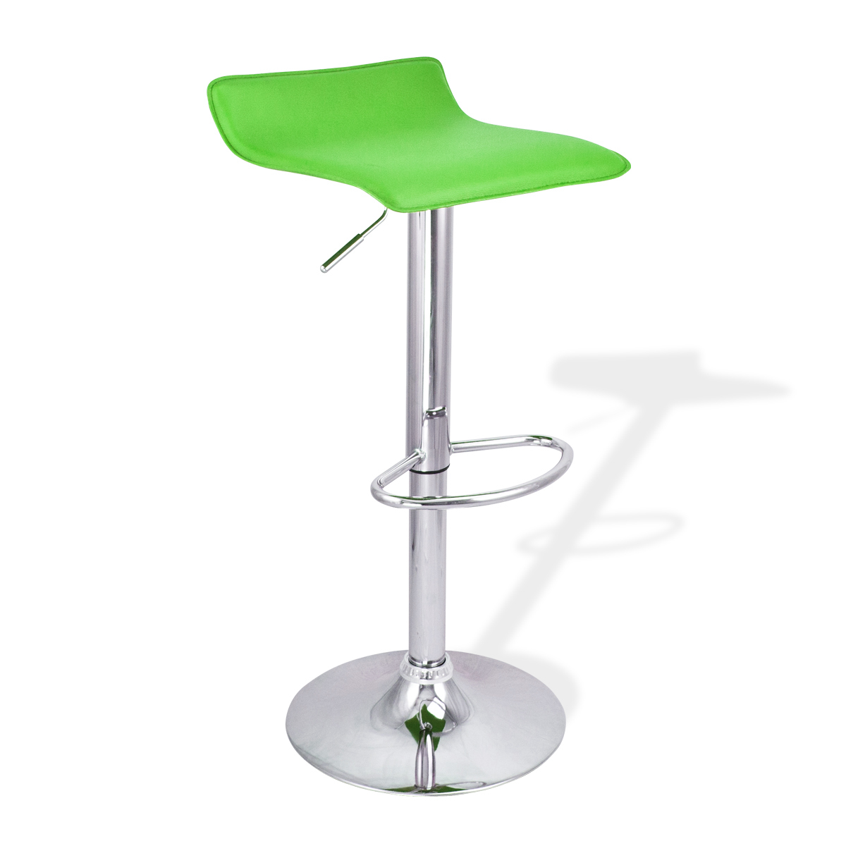 4 New Modern Bar Stool Green Swivel Bombo Chair Pub