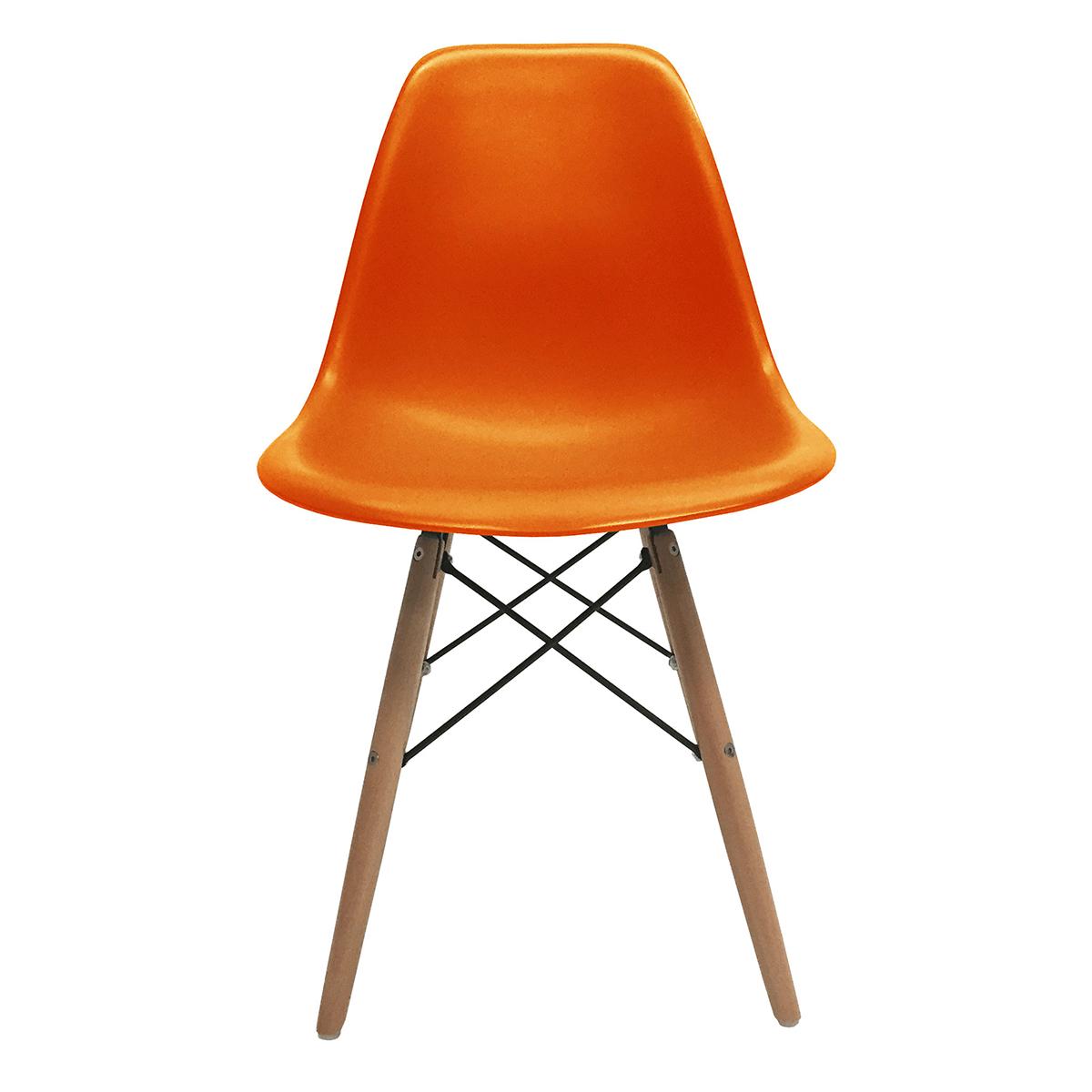 Set of 2 dsw molded side dining chair eiffel dowel leg wood eames style ebay - Eames dsw eiffel chair ...