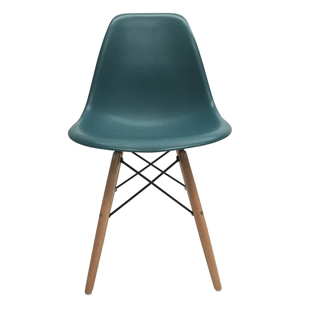4 new turquoise eames style dsw wood leg side dining chair mid century modern ebay. Black Bedroom Furniture Sets. Home Design Ideas