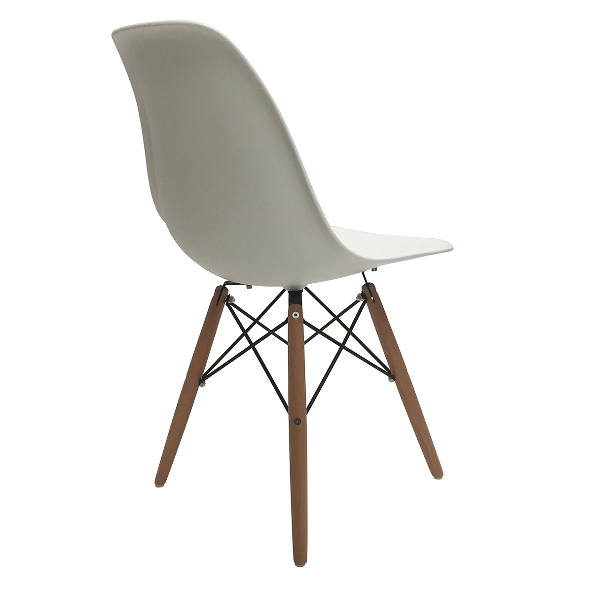 Set of 4 eiffel molded plastic side dining chairs eames for Eames dsw replica