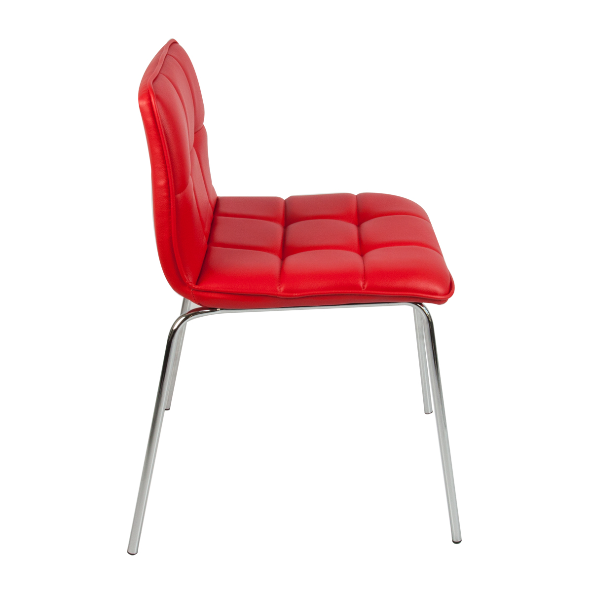 Waiting Room Chair Mid Century Modern Red Color Pu Leather