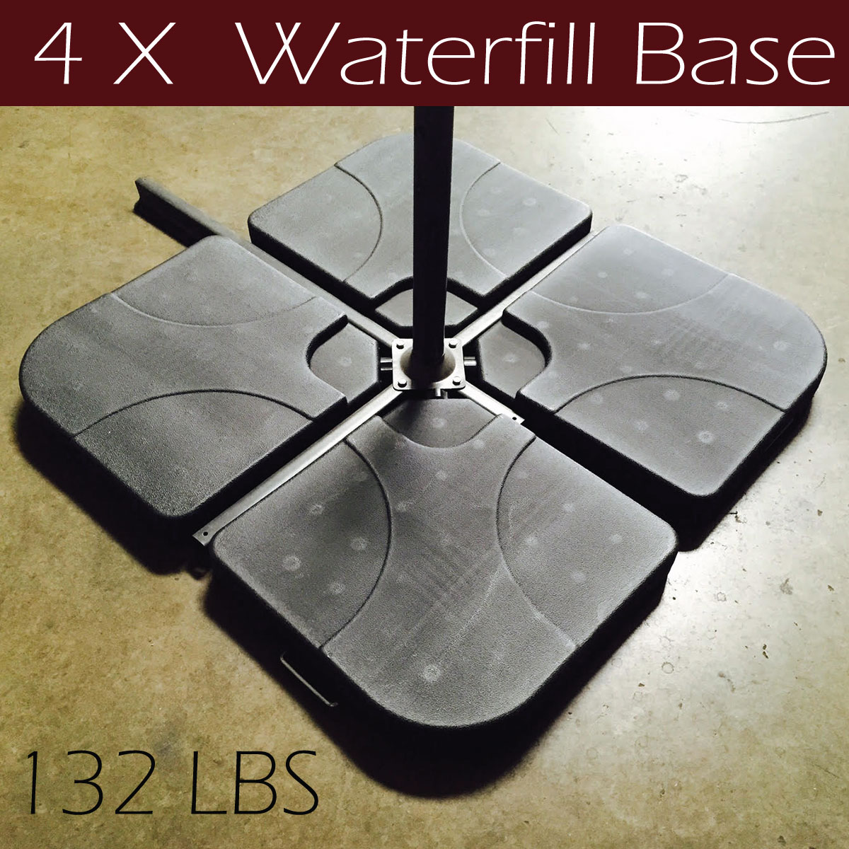 Umbrella Stand Water Filled: Set Of 4 Water Sand Filled Cross Base Stand Patio Umbrella