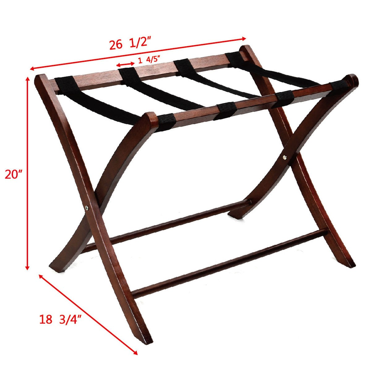 Apontus Great Quality Wood Luggage Rack, Walnut | eBay