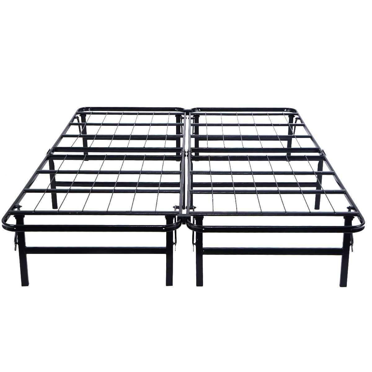 Metal bed frame platform mattress foundation queen size ebay for Queen size bed frame