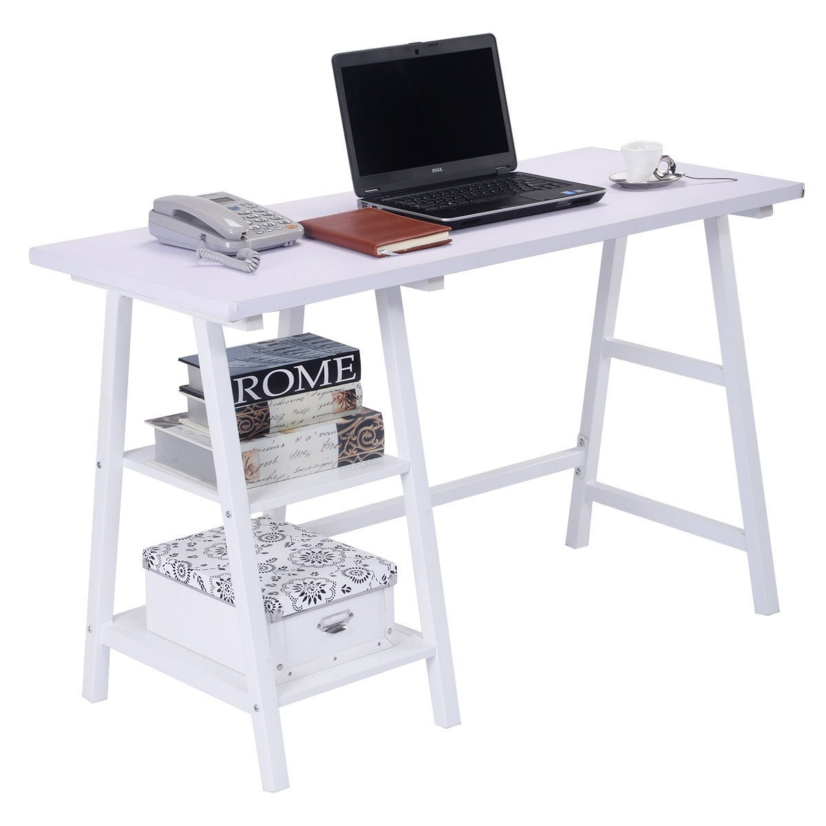 home office study furniture. Image Is Loading White-Computer-Writing-Study-Desk-Modern-Vintage-Home- Home Office Study Furniture I