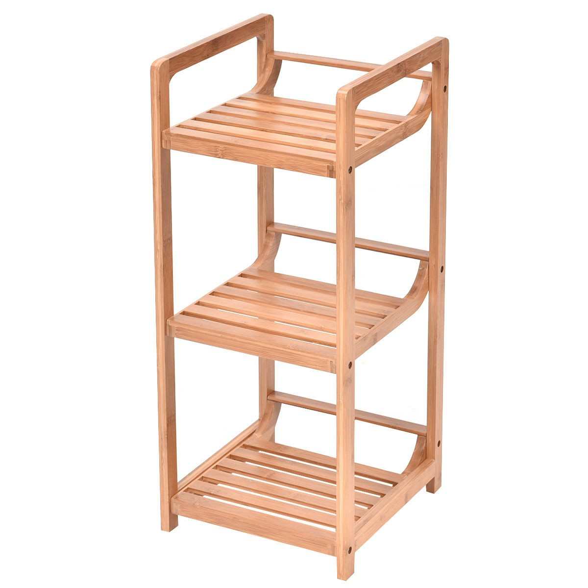 3 tier bathroom shelf bamboo bath storage space saver organizer shelves rack