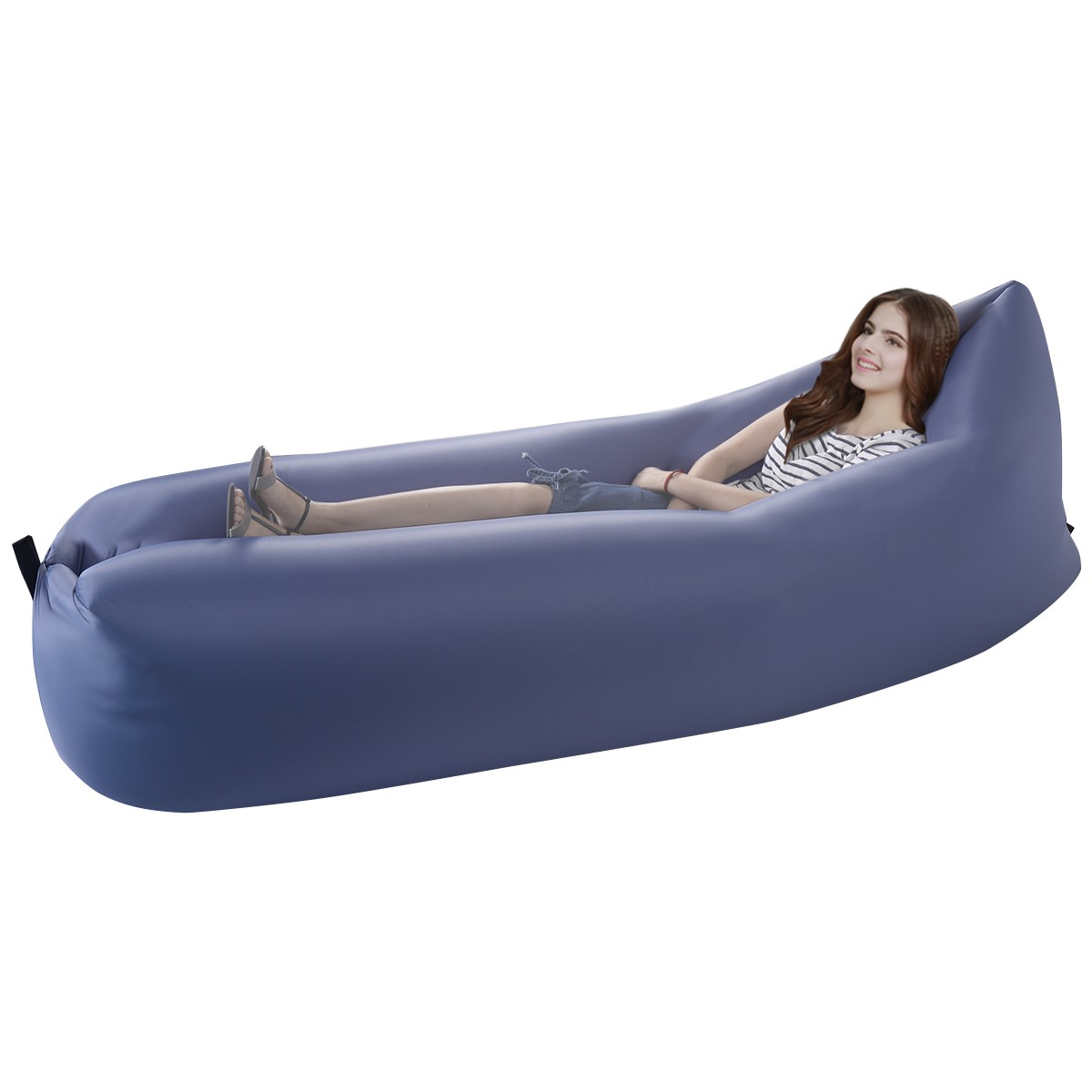 Outdoor Lazy Inflatable Couch Air Sleeping Sofa Lounger Bag Camping Bed Portable Ebay