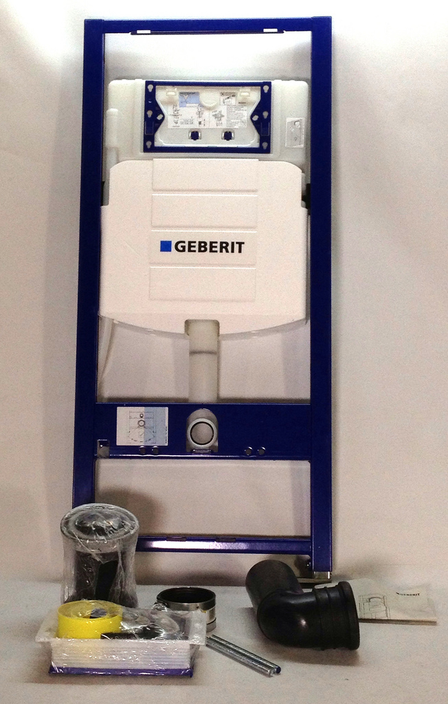 Geberit concealed toilet carrier frame with for Geberit toilet system