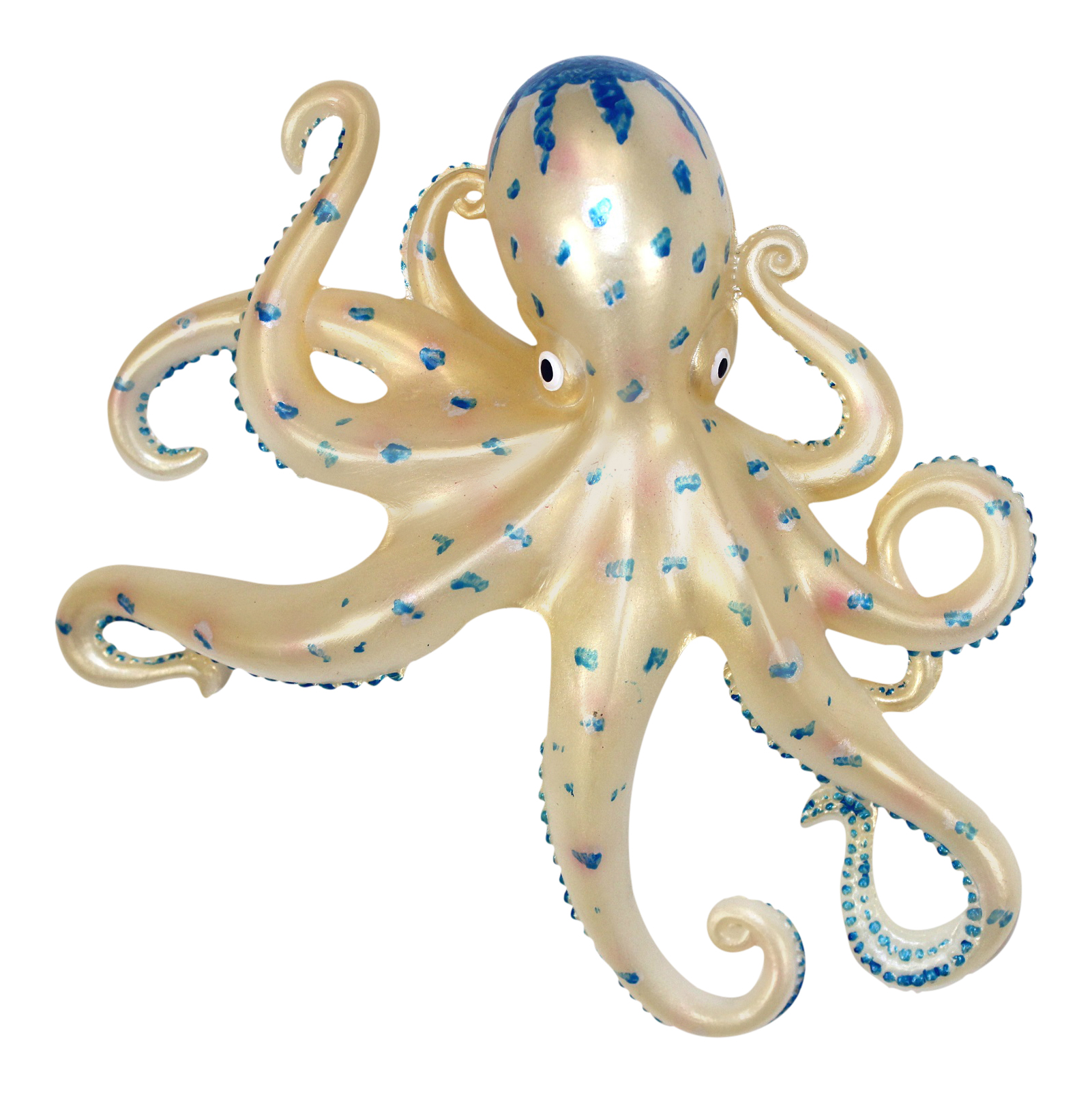 Coastal Sea Creature Apricot Octopus 9 Inch Wall Decor
