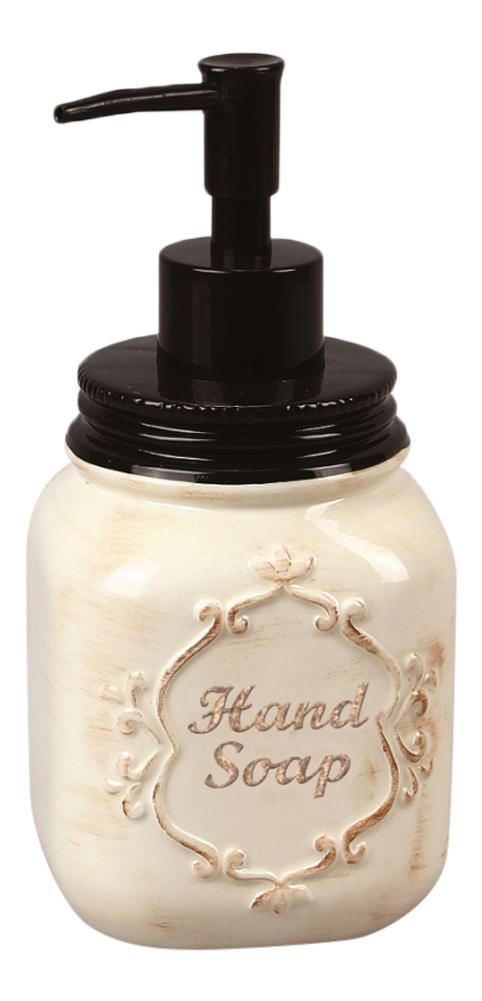Kitchen Hand Soap Dispenser ~ Ceramic kitchen bath jar hand soap lotion inch pump
