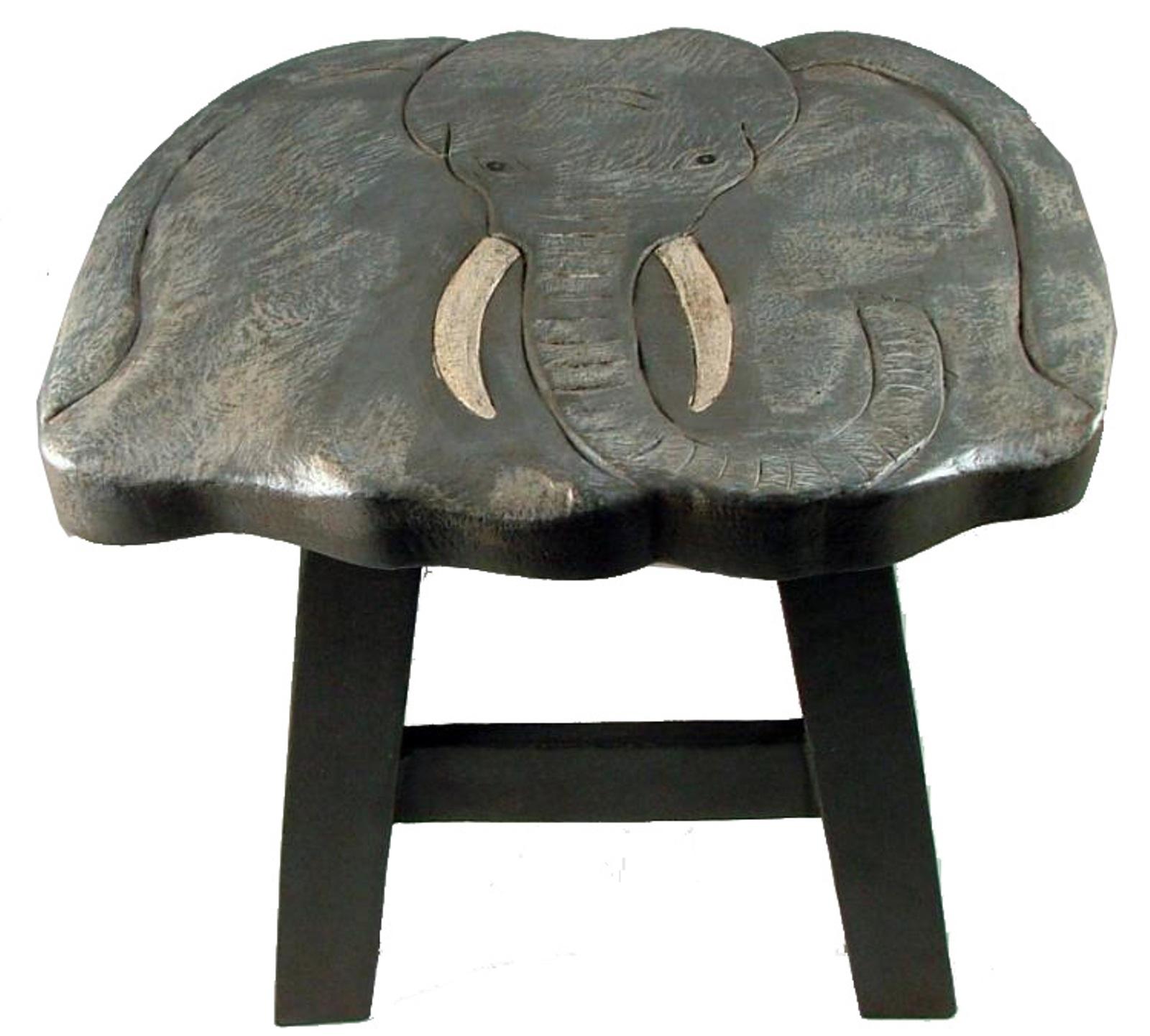 Safari Elephant Child Kitchen Carved Wooden Step Stool Ebay