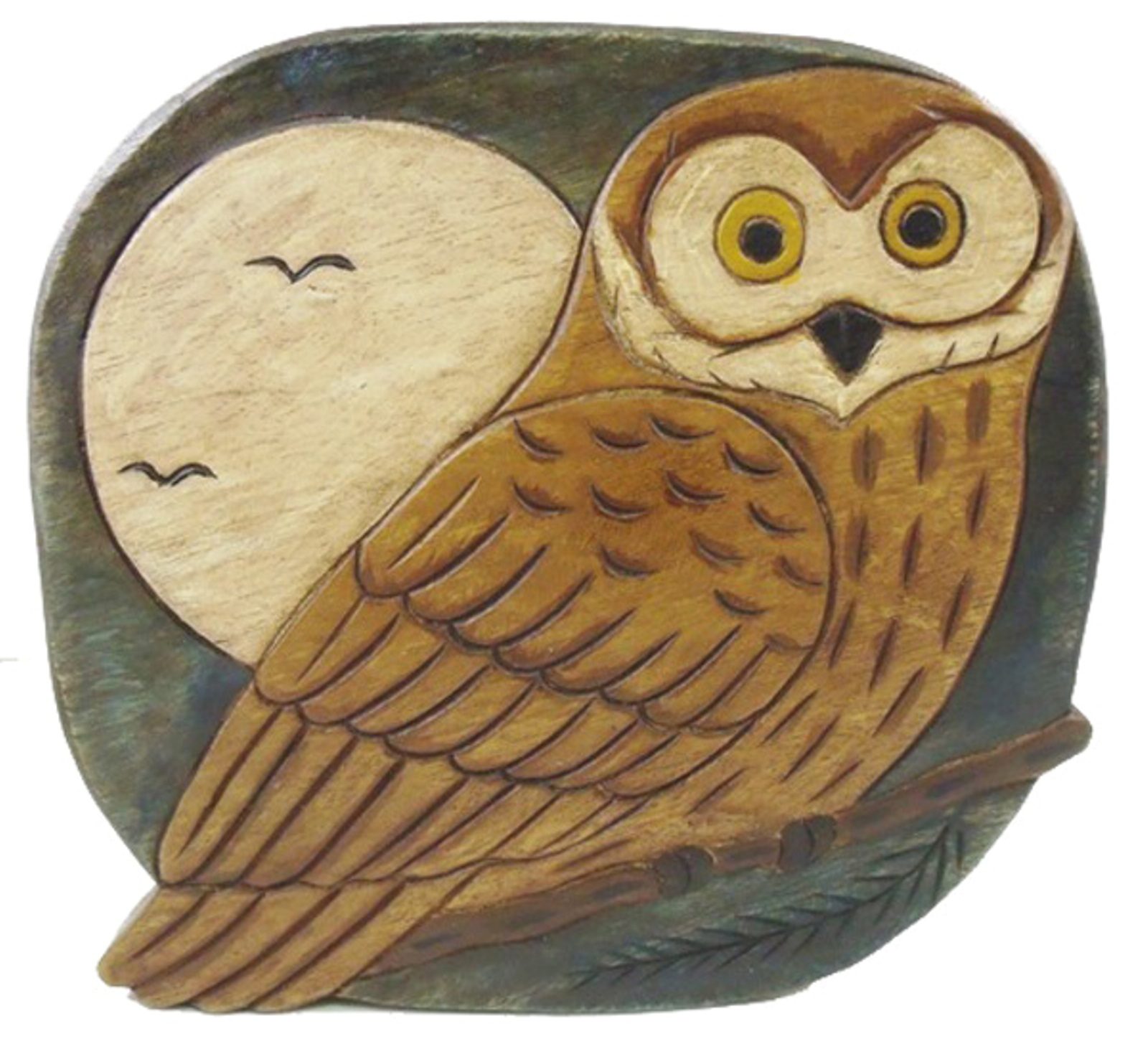 Hand carved wise owl wooden child step stool ebay