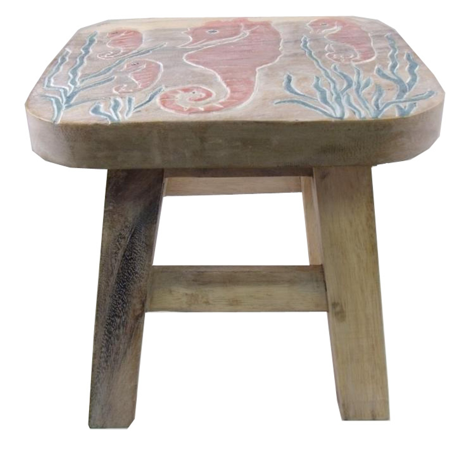 Details about Tropical Seahorse in Sea Grass Childs Wooden Step Stool