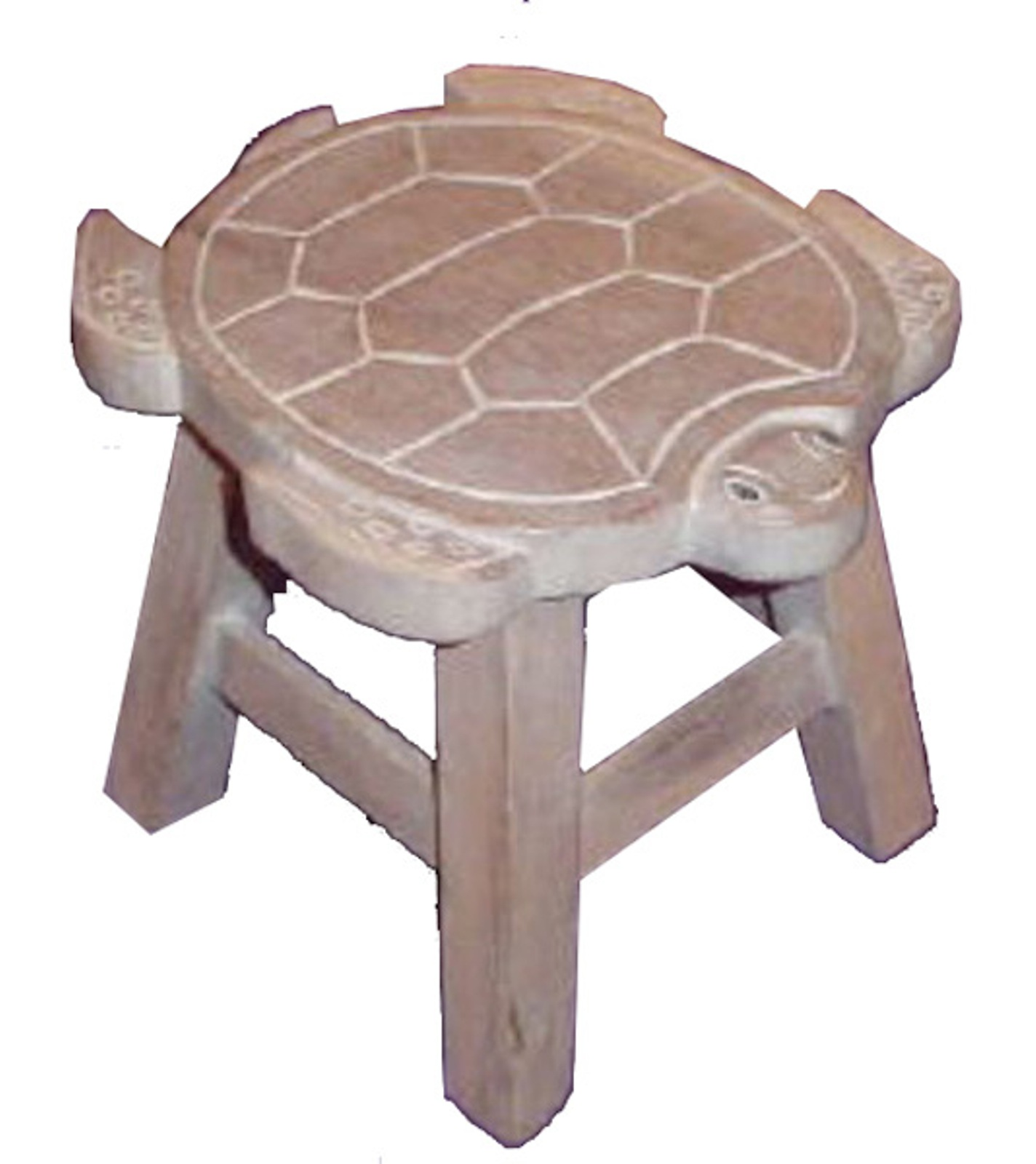 about Tropical Sea Turtle Whitewash Child Bath Carved Wooden Stool