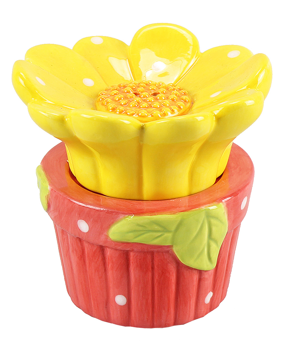 Youngs Blooming Flower in Garden Pot Ceramic Salt and Pepper Shaker Set at Sears.com