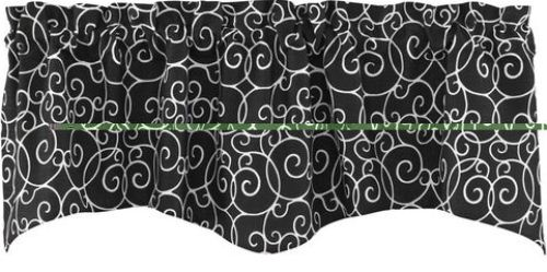 Split P Scrollwork Print 58 x 18 Lined Wave Edge Window Valance Split P at Sears.com