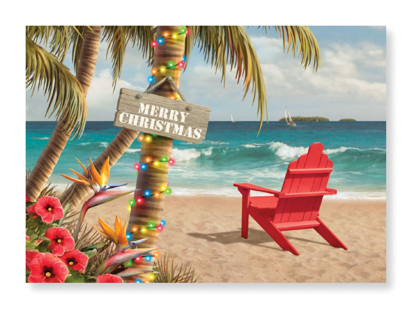 Christmas card beach pictures inspiring quotes and words in life tropical beach holiday paradise boxed christmas holiday greeting cards ebay kristyandbryce Gallery