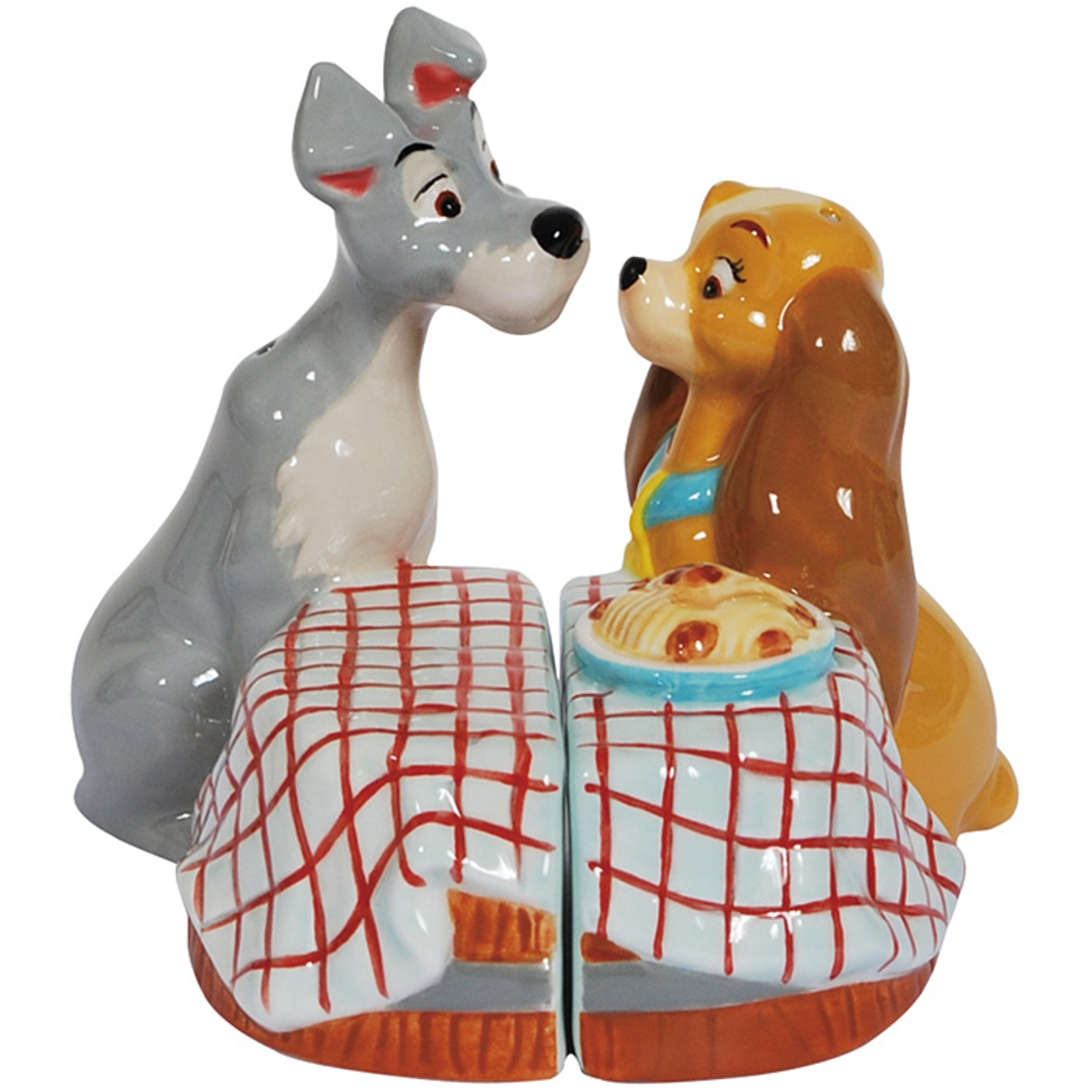 Lady and the Tramp First Kiss Salt and Pepper Shakers Westland Giftware