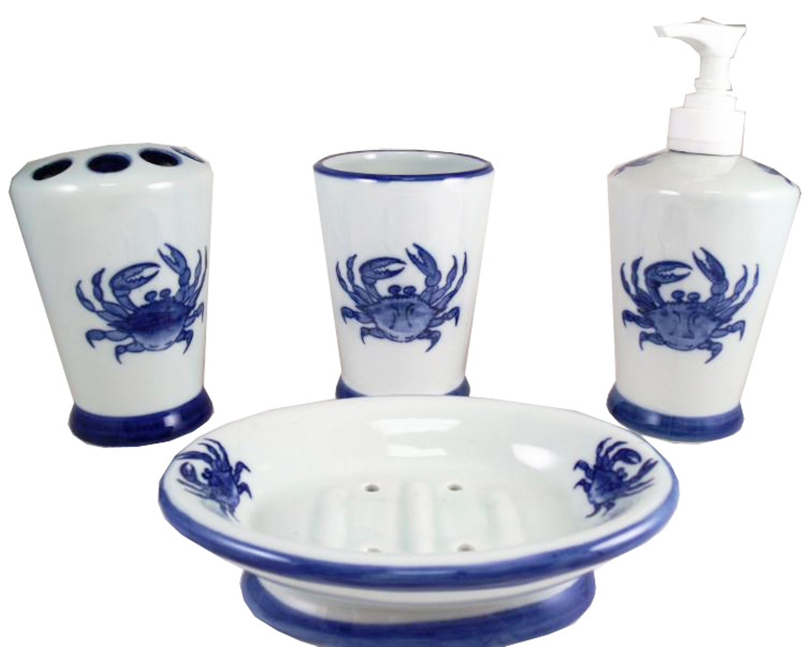About Chesapeake Bay Maryland Blue Crab Vanity Bathroom Accessory Set