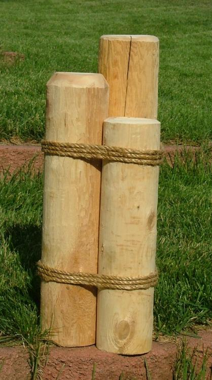 Decorative pier pilings courts at fairfield