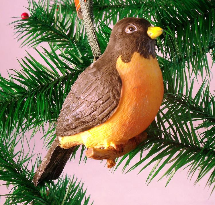 Red Robin Christmas Tree Decorations : Red robin bird christmas tree songbird ornament decor