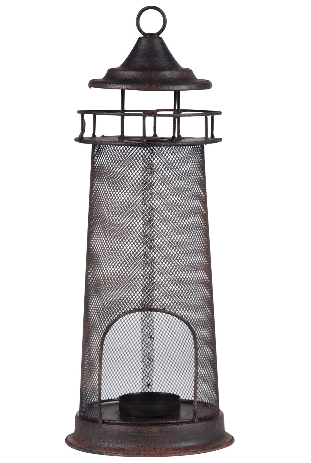 Hanging Lighthouse Tea Light Candle Holder 14 Inch Shaped Metal Tabletop Decor