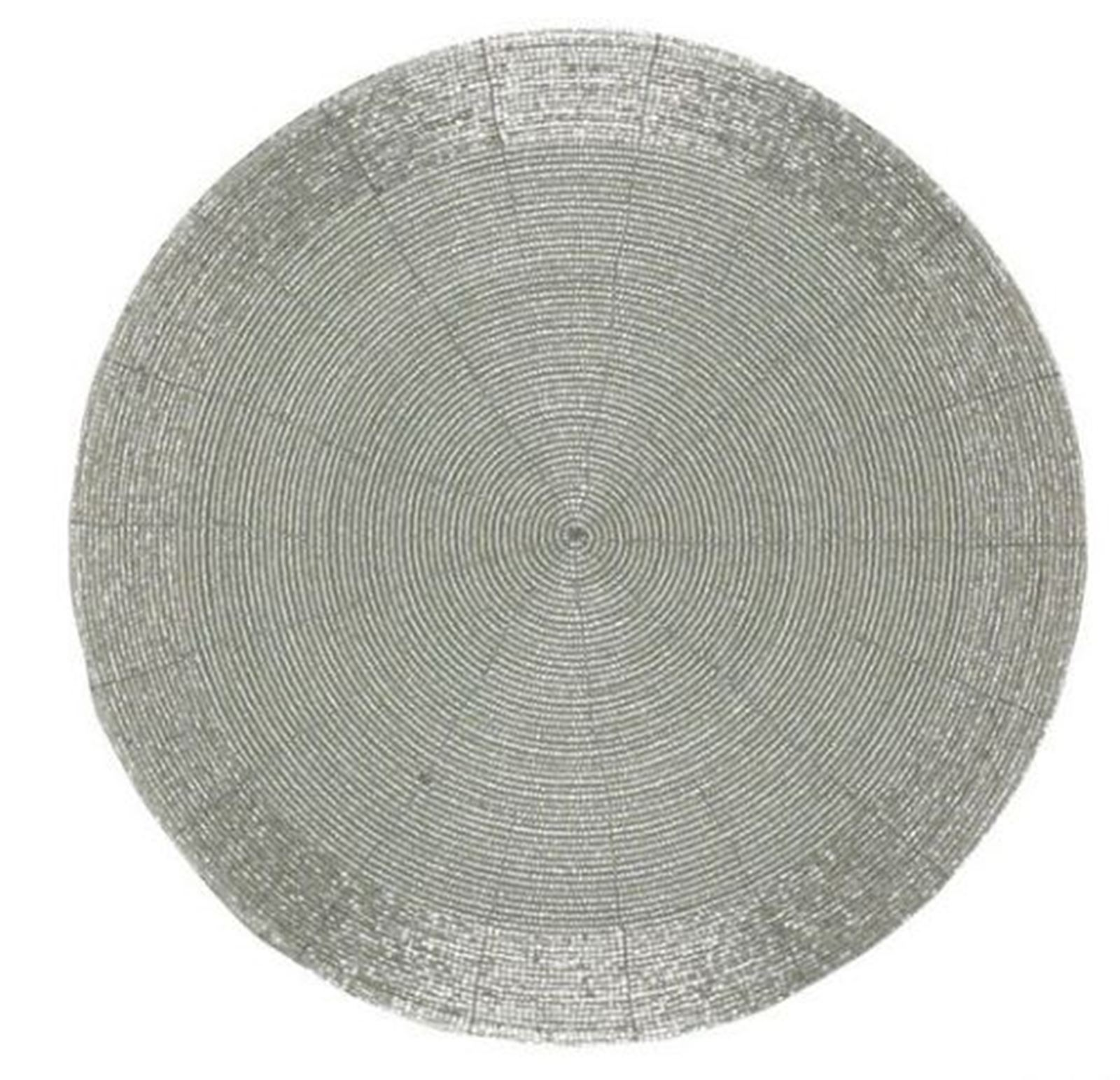 silver beaded 13 inch placemats