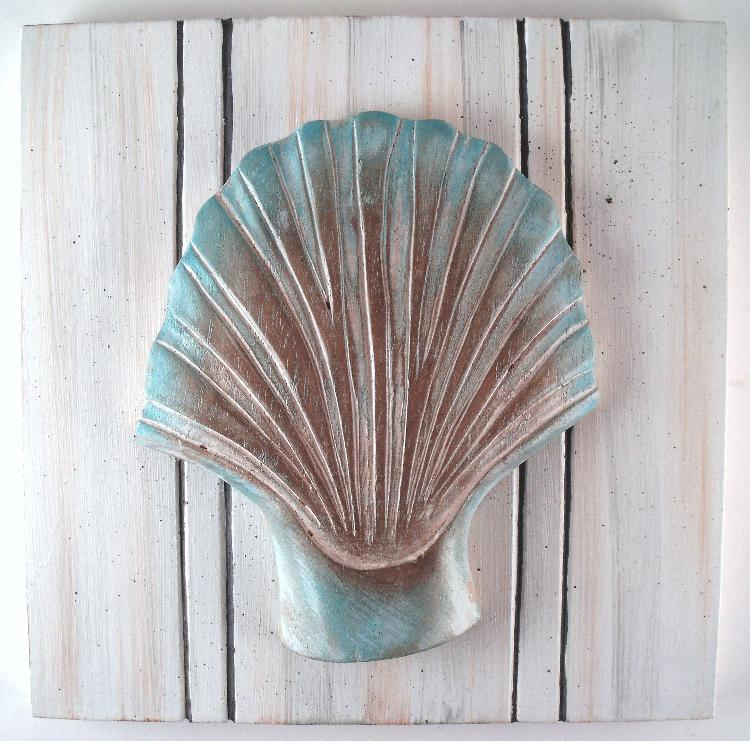 Beach Ocean Wall Decor : Nautical ocean beach sea shell beadboard wall decor set of
