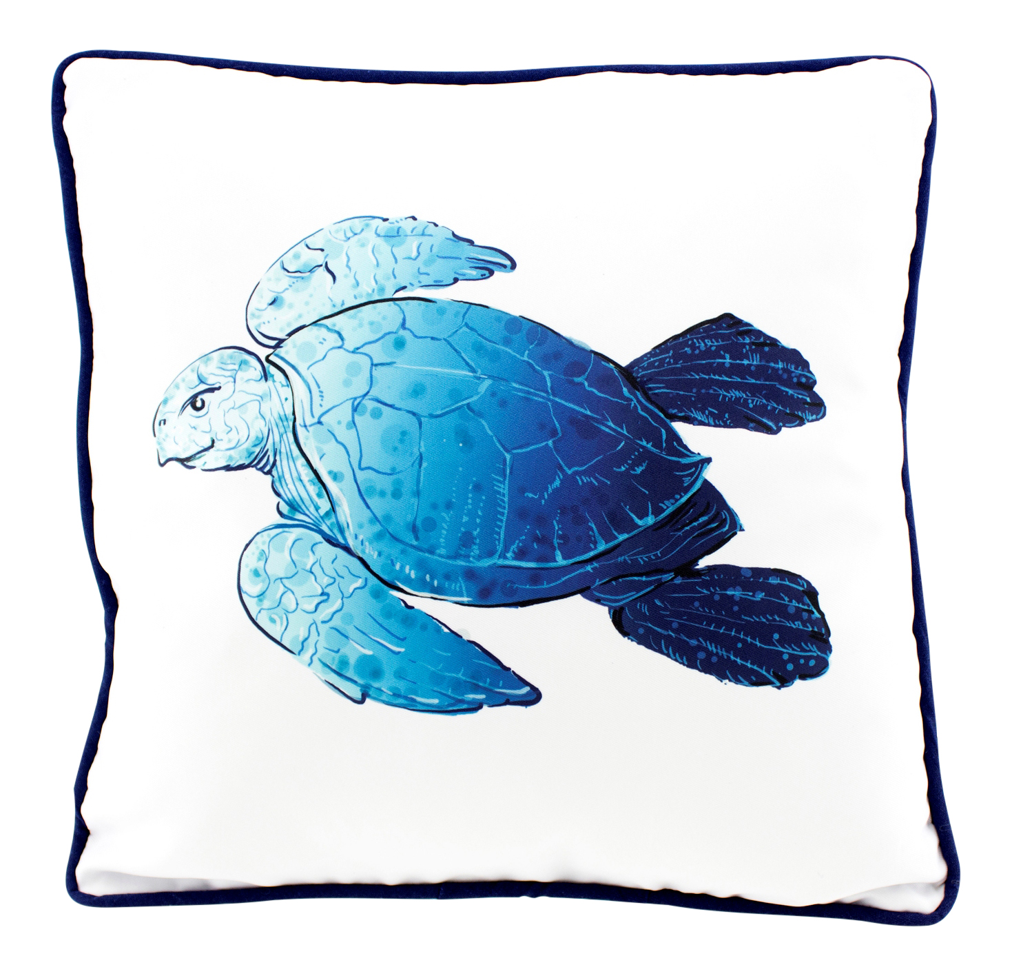 Ocean Blue Sea Turtle on White 15 Inch Decorative Accent Throw Pillow eBay