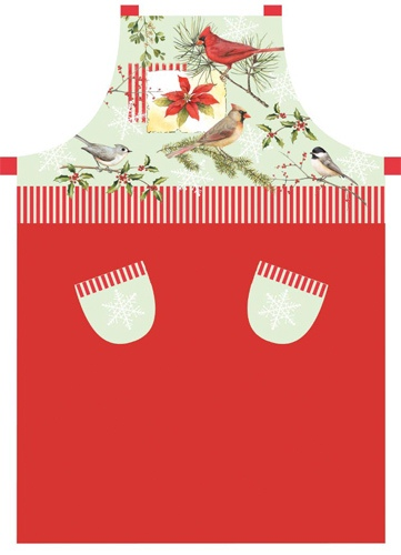 Kay Dee Red Cardinal Holiday Garden Kitchen Cooking Chef Butcher Apron at Sears.com