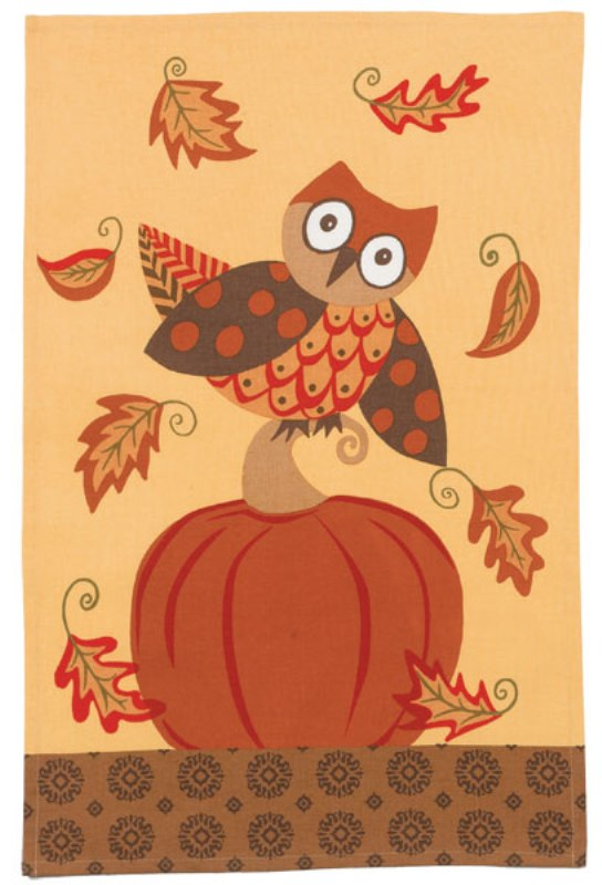 Kay Dee Happy Fall Hoot Owl and Pumpkin Spice Kitchen Tea 18 x 28 Inch Towel Kay Dee at Sears.com