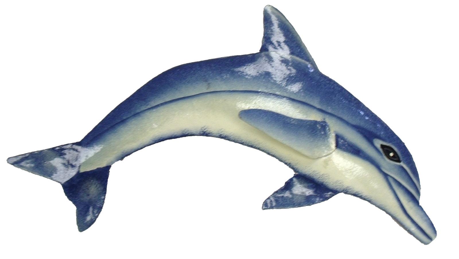 Dolphin Outdoor Wall Decor : Tropical inch dolphin haitian metal wall art decor