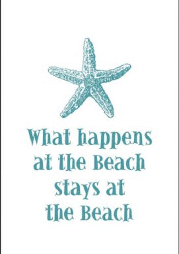 Kay Dee What Happens at the Beach Starfish Destination Cotton Kitchen Dish Towel Kay Dee at Sears.com