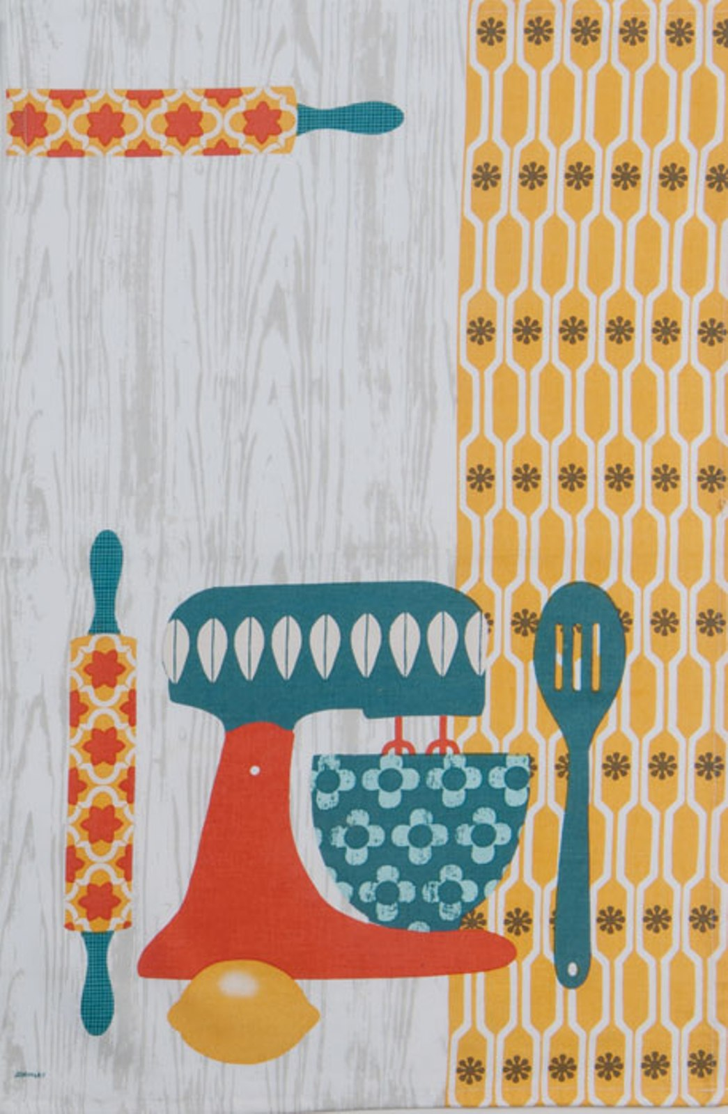 Kay Dee Retro Print Mixing Bowl Mixer 28 Inch Kitchen Dish Tea Towel Cotton Kay Dee at Sears.com