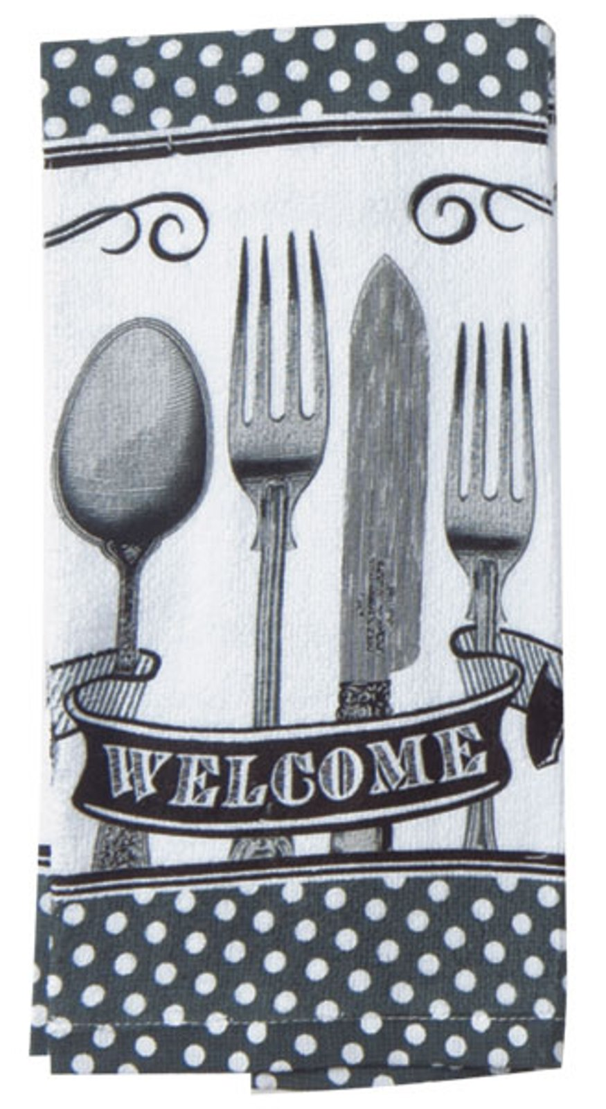 Kay Dee Spoonful of Life Spoon Knife Fork 26 Inch Printed Kitchen Terry Towel Kay Dee at Sears.com