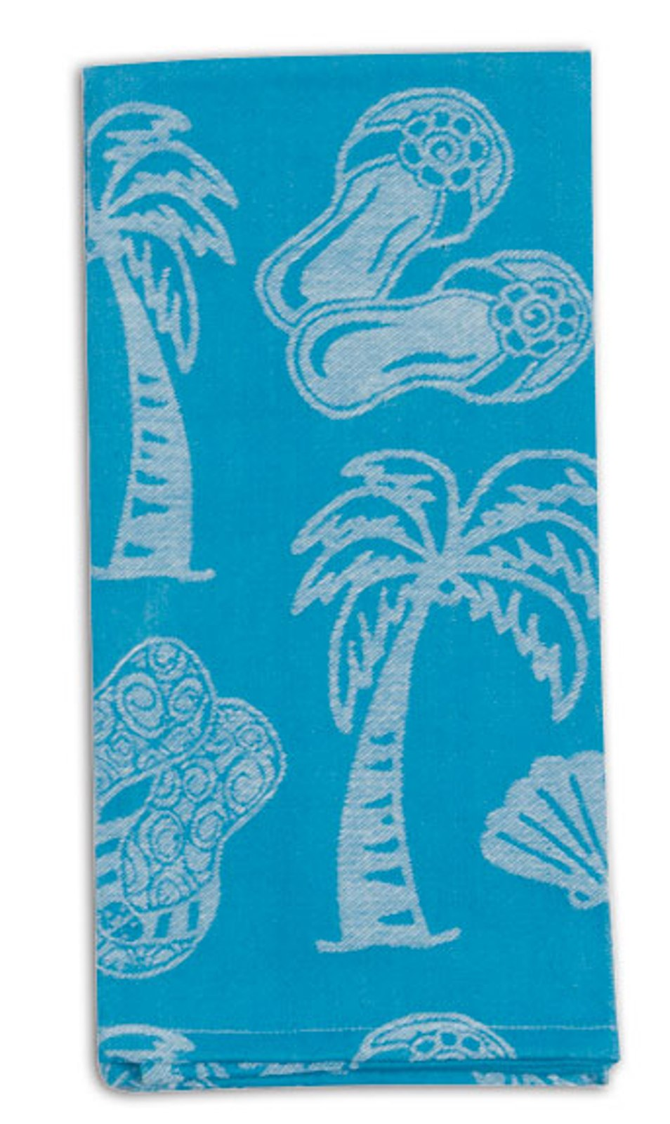 Kay Dee Beach Time Sun Flip Flop Sandals Shells Kitchen Jacquard Tea Dish Towel Kay Dee at Sears.com