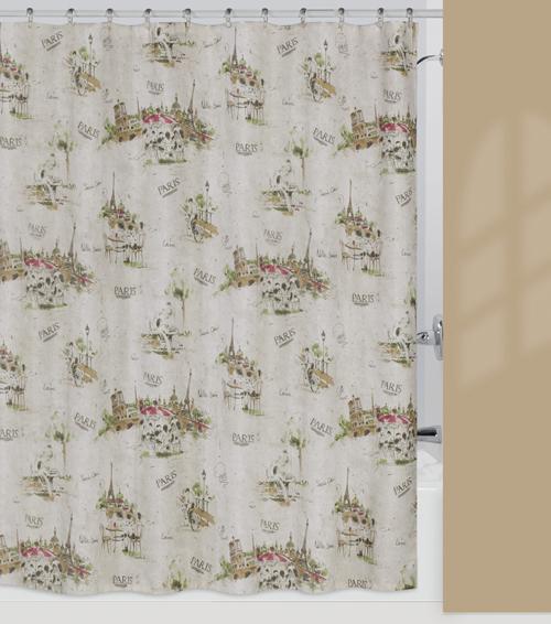 I Love Paris Eiffel Tower Chic Bathroom Fabric Shower Curtain Ebay