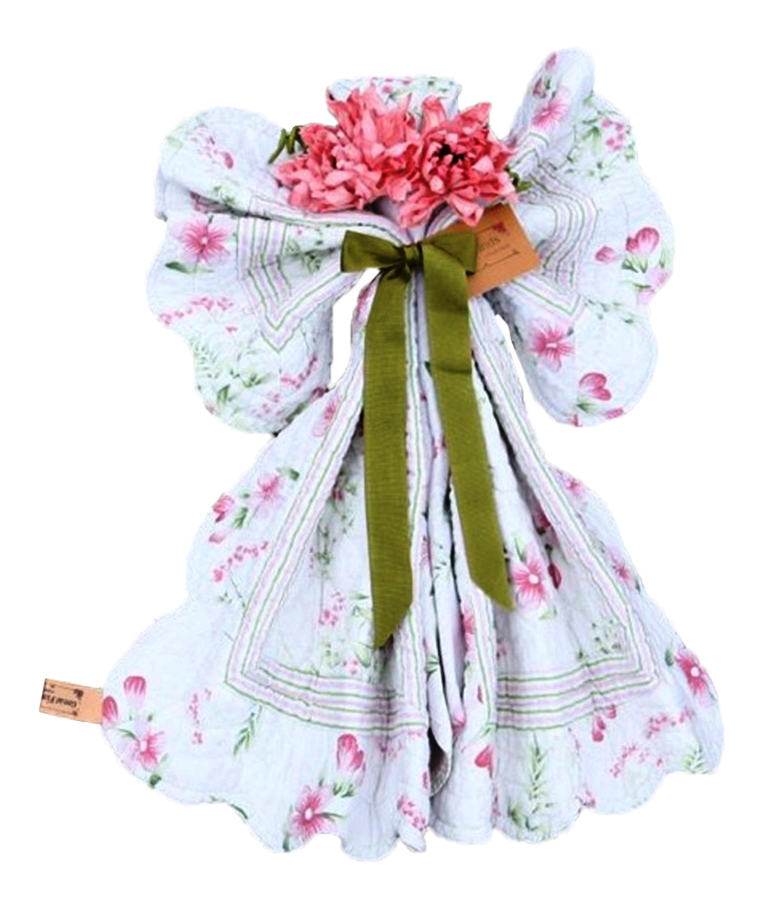 White Angel Shaped Doll 6 Piece Tabletop Setting for 2