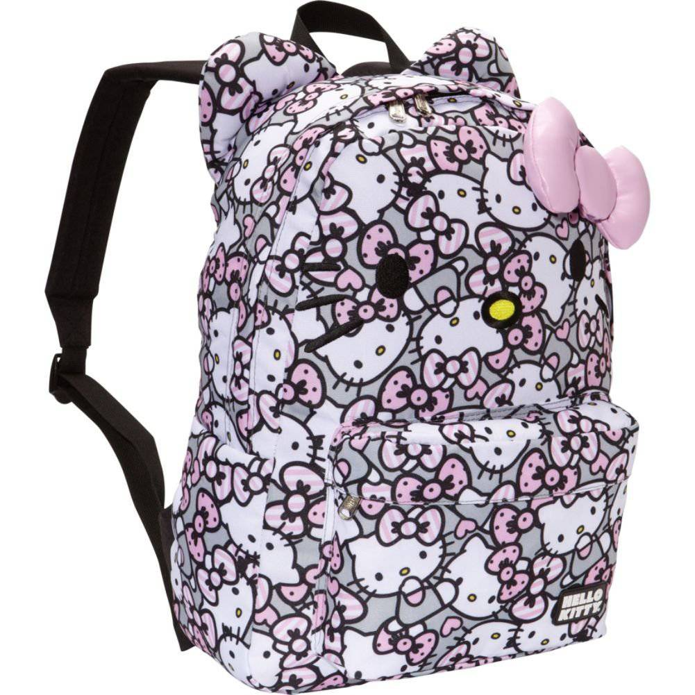 Hello Kitty Loungefly Hello Kitty Pink Grey White All Over Print Backpack at Sears.com