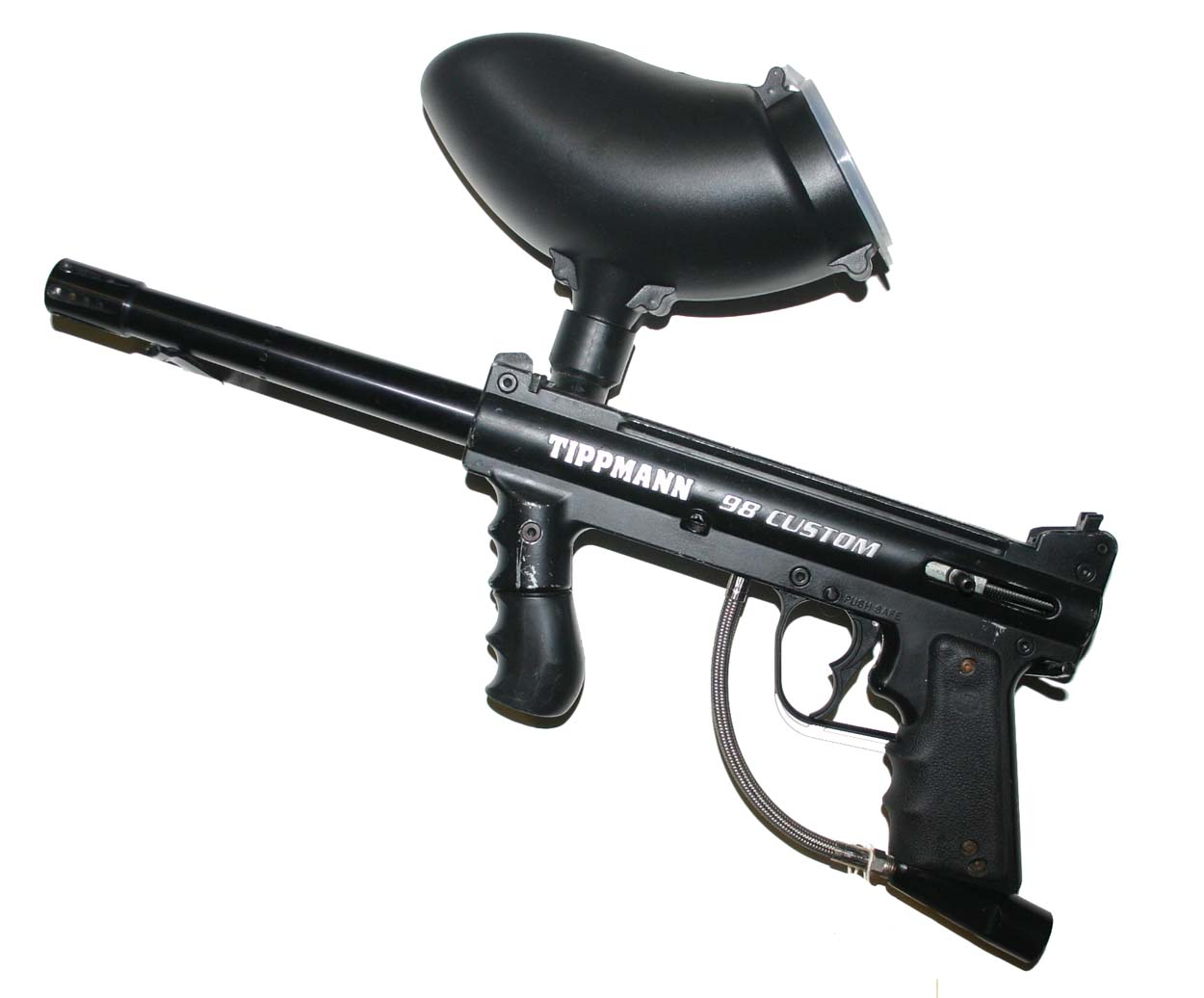... Tippmann 98 Custom Paintball Gun / Marker with Hopper & Double Trigger