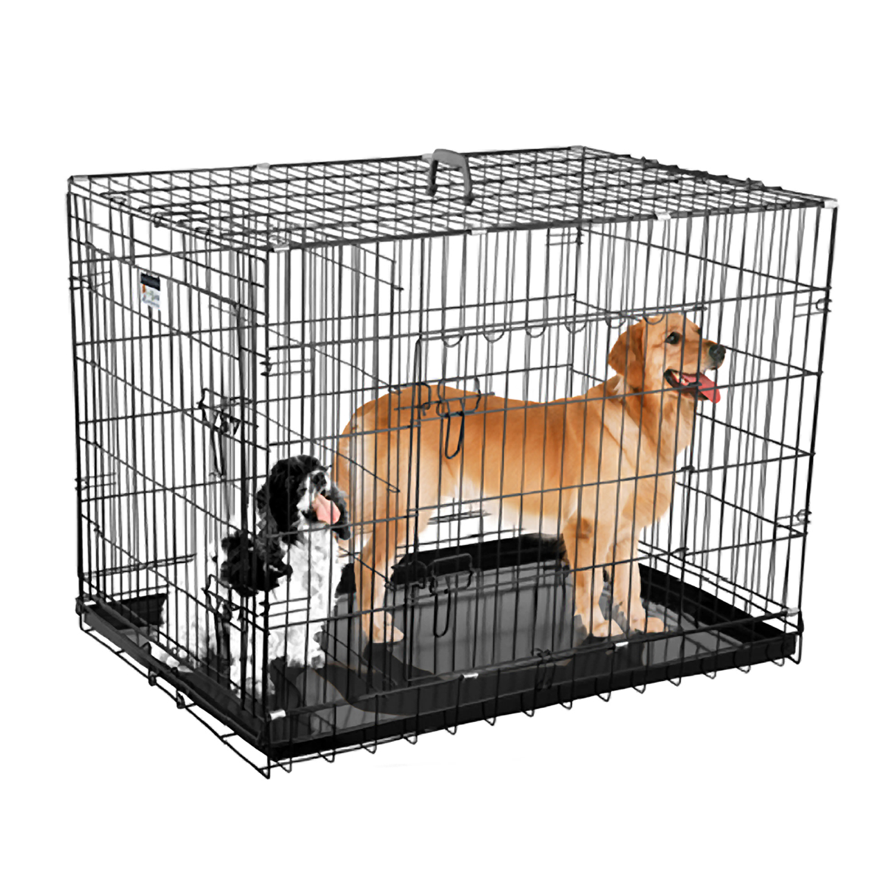 Pet trex 36quot folding pet crate kennel wire cage for dogs for 36 inch dog crate with divider