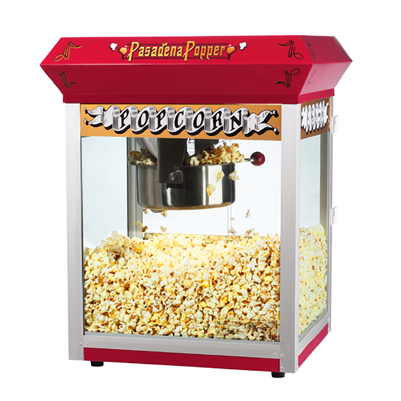 great northern pasadena red antique style popcorn popper machine 8 oz great northern popcorn - Popcorn Poppers